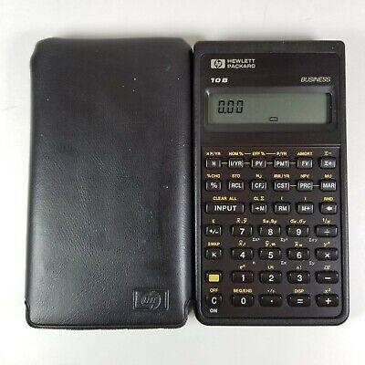 HP 10B Financial Calculator and Case Hewlett Packard Business Accounting Finance