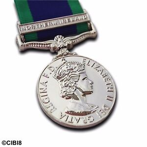 GSM Northern Ireland Medal FULL SIZE WITH CLASP General Service 1962 Campaign