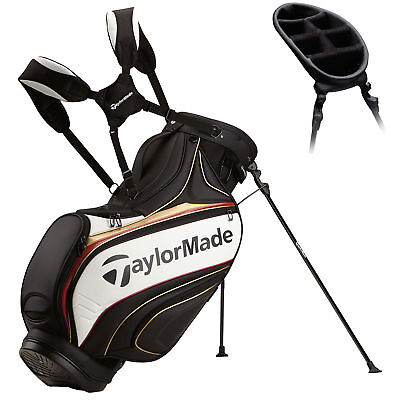 New TaylorMade Golf Tour Stand Bag Carry 2016 Black/White/Gold/Red