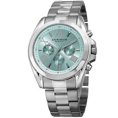Akribos XXIV  Women's AK951SSBU Multifunction Silver Tone Stainless Steel Watch