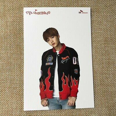 BTS SUGA [ SKT Official Postcard Photocard Limited ] / New, Rare / + Gift