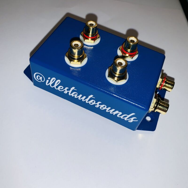 rca distribution block 1-2 rca splitter In Blue