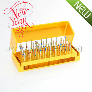 30-Pcs-Dental-Diamond-Burs-Drill-Disinfection-Bur-Block-High-Speed-Handpieces