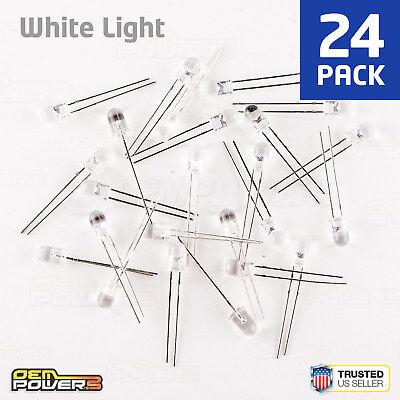 White Leds Bulk (24 X RadioShack 5mm High-Brightness White LED #2760017 BULK PACK)