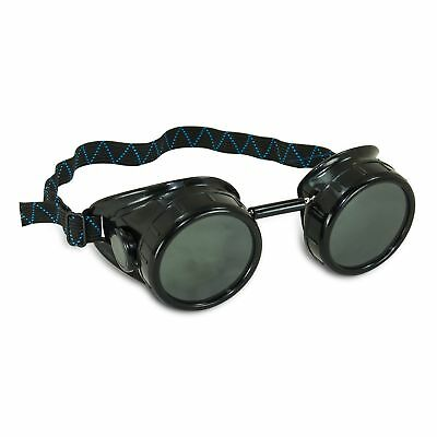 Aes Industries 5 Shade Black Safety Welding Cup Goggles - 50mm Dual Lens Eye