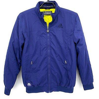 Kappa Mens Bomber Jacket Blue XXL Insulated Full Zipper Water Repellent