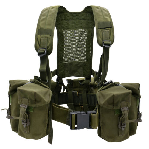 CHEST RIG Tactical British Army Airborne Webbing Set Olive Green Vest Modular