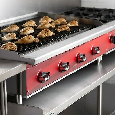 48 Natural Gas Radiant Commercial Restaurant Kitchen Countertop Charbroiler