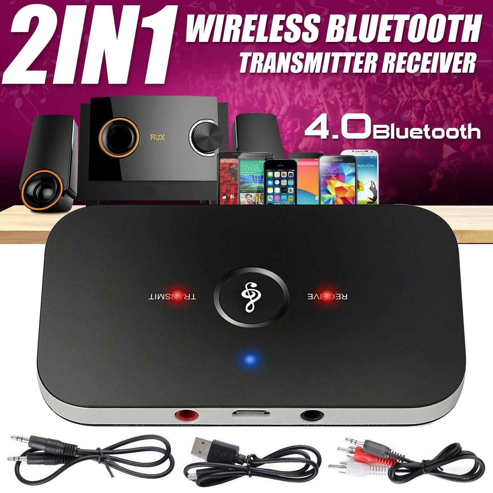 Bluetooth Receiver & Transmitter Wireless RCA to AUX Audio A