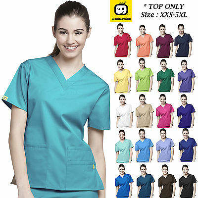 WonderWink Origins Bravo Womens Medical Scrub Multi Color V-Neck Size XXS-5X