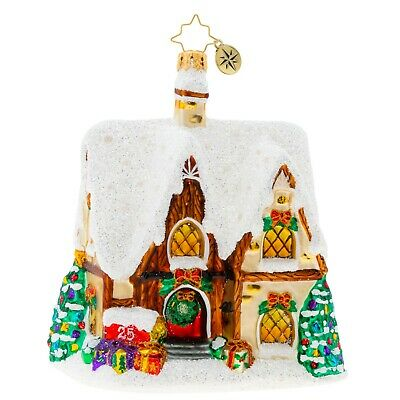 [NEW Christopher Radko HOME FOR THE HOLIDAYS! Christmas Ornament 1019954</Title]