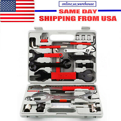 44PCS Professional Complete Bike Repair Tools Tool Kit Set Home Mechanic Cycling