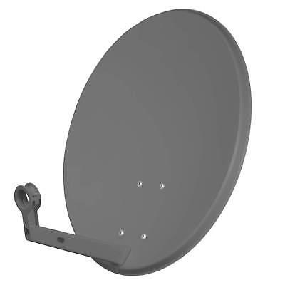 60cm SAT Antenne Satellitenschüssel Digital Stahl Spiegel HD +3D anthrazit DVBS