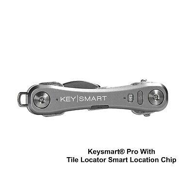 KeySmart® Pro SLATE With Tile™ Smart Location Chip - (Slate Chips)