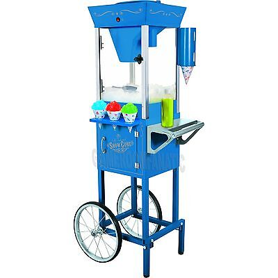 Snow Cone Maker W Antique Storage Cart Stand Snowcone Shaved Ice Machine Scc200