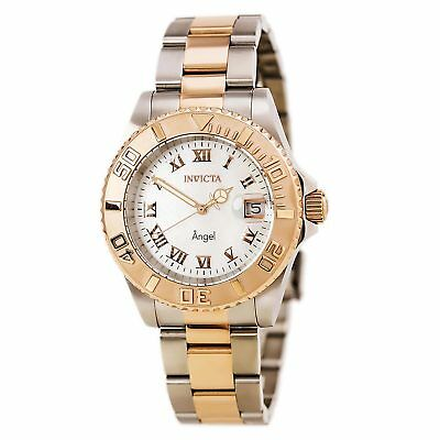 Invicta 14364 Women's Angel White MOP Dial Two Tone Bracelet Watch