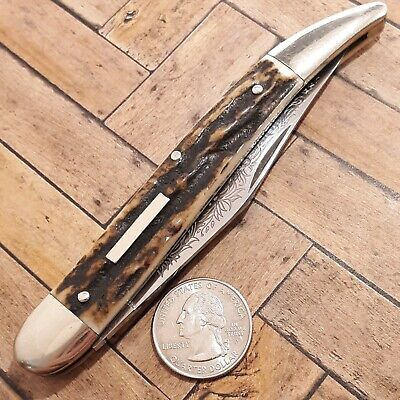 FRANK BUSTER CUTLERY FIGHT N ROOSTER KNIFE MADE IN GERMANY STAG TOOTHPICK