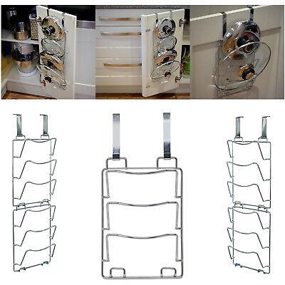 Over Door Pot - Pan Lid Holder / Door & Wall Mounted Storage Rack / Set of 2 #Z6
