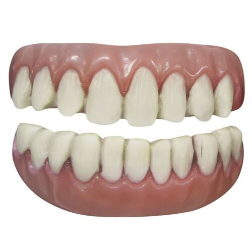 Adult False Long Tooth Fangs Prosthetic Scary Halloween Costume Teeth Prop