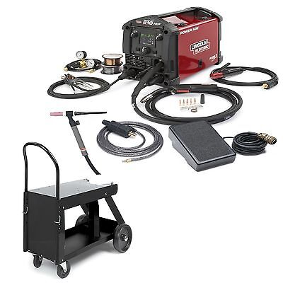 Lincoln Power Mig 210 Mp Welder W Tig Kit Hd Cart K4195-2