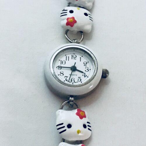 Childrens Sanrio Hello Kitty Quarts White Metal Watch New Battery