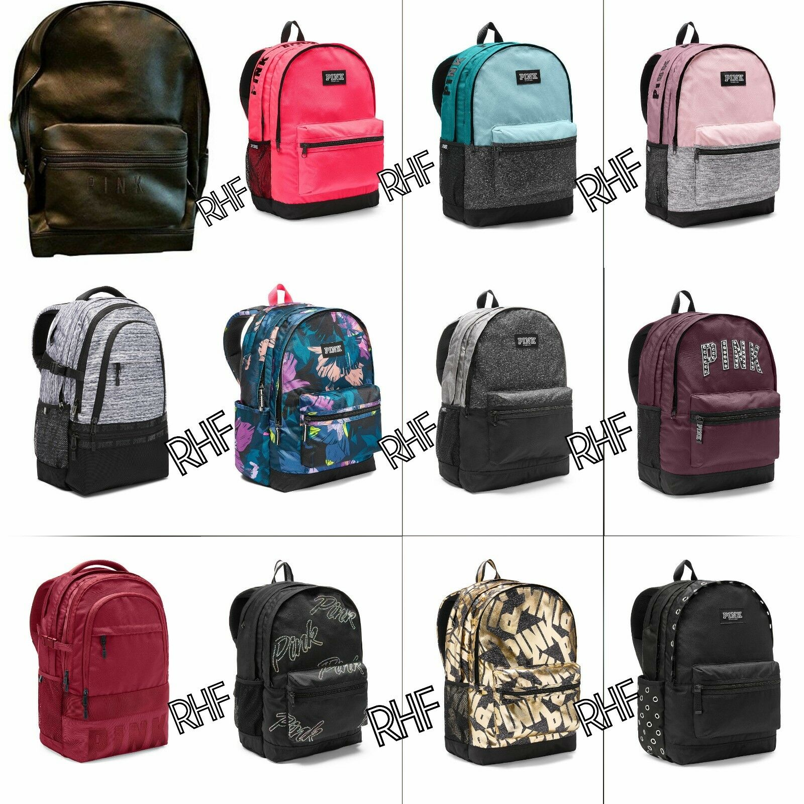 Victoria's Secret PINK Campus and Collegiate Backpack Book-b