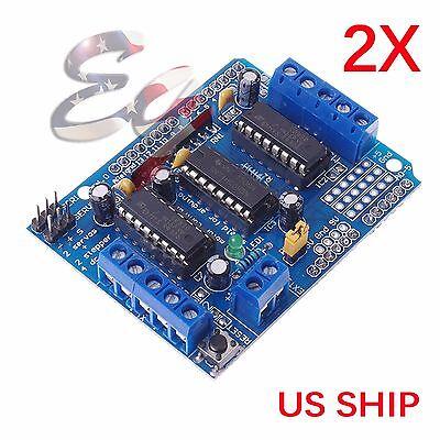 2x L293d Motor Drive Shield Expansion Board For Arduino Duemilanove Mega Uno
