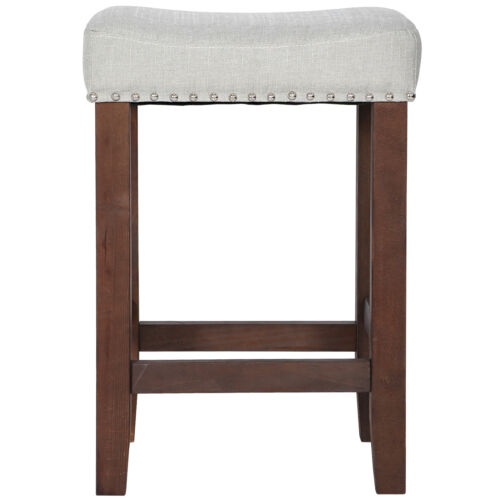 Modern 24″ Counter Stool Kitchen Island Pub Chair Wooden Dining Pub Bar Chairs Benches, Stools & Bar Stools