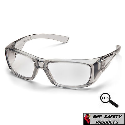 PYRAMEX EMERGE 1.5 CLEAR FULL READER LENS READING SAFETY GLASSES SG7910D15 1 PR