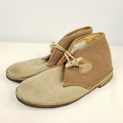 Clarks Originals Mens Size US 10 M Desert Duffle Tan Shoes Gloverall Crepe Sole
