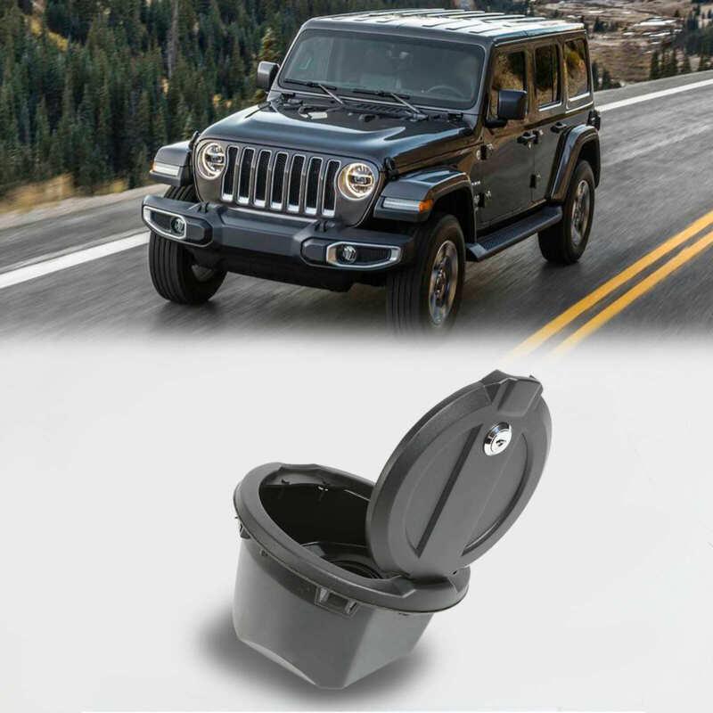 Tank Gas Cap Cover Door Accessories W/Lock  for 2018-21 Jeep Wrangler JL