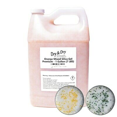 1 Gallon7-7.5 Lbs Dry Dry Orange White Mixed Silica Gel Desiccant Bead