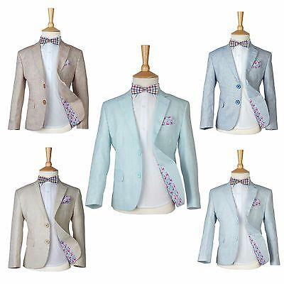 Linen Suit Boys (Boys Linen Casual Suits Page Boy Kids Summer Outfit Boy Formal)