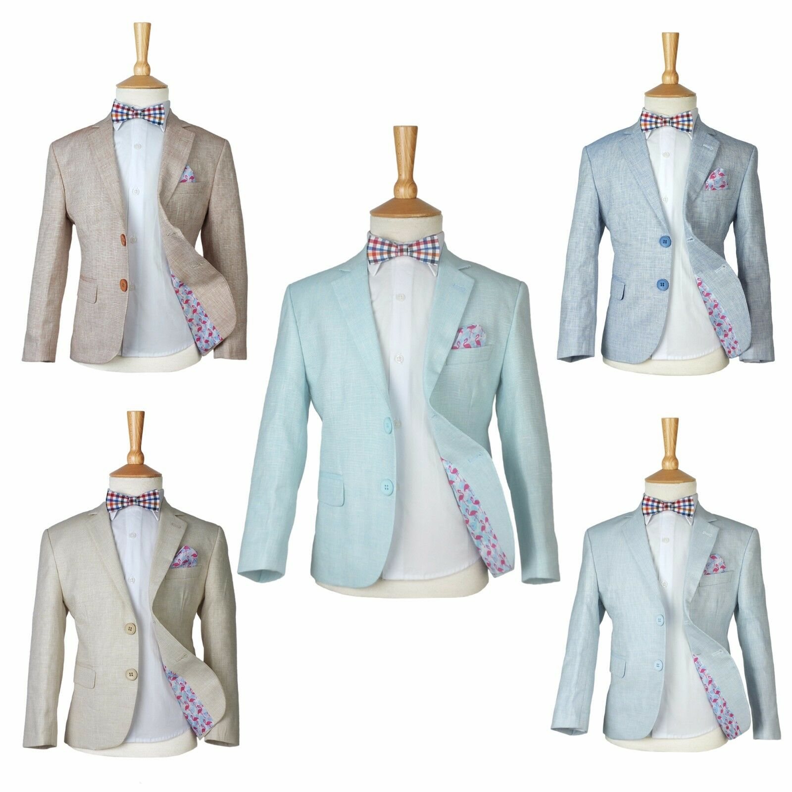 Boys Salmon Linen Casual Suits Page Boy Outfit Boy Formal Suit