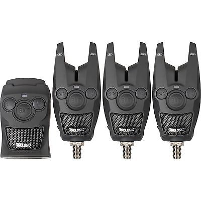 Prologic BAT + Carp Fishing Bite Alarm Set of 3 with Remote - CHEAPEST UK PRICE