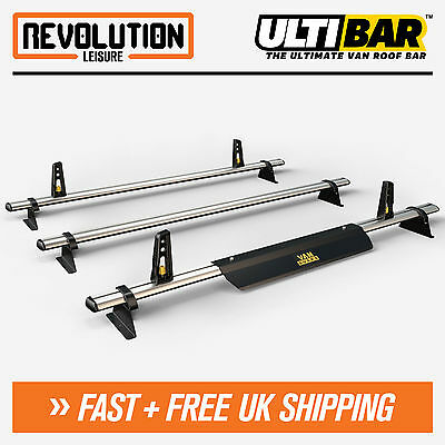 Vauxhall Vivaro, Renault Trafic Roof Rack Bars 3 x Van ULTI Bar H1 Low 2014+