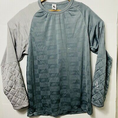 Nike NRG A Cold Wall ACW Long Sleeve Sweatshirt Gray Mens Size:Large AQ0433-065