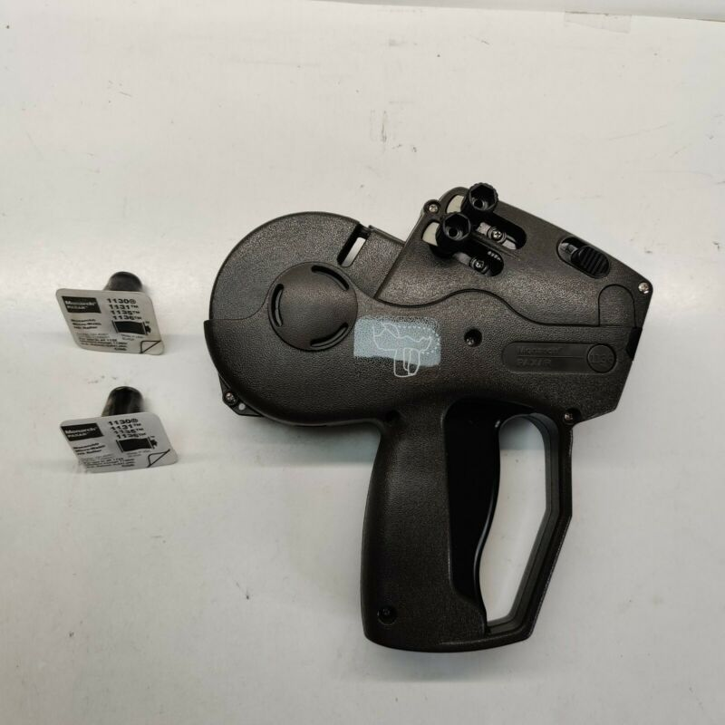 Monarch Paxar 1136 2-Line Black Pricing Gun w/ 2 Micro-Well Ink Roller