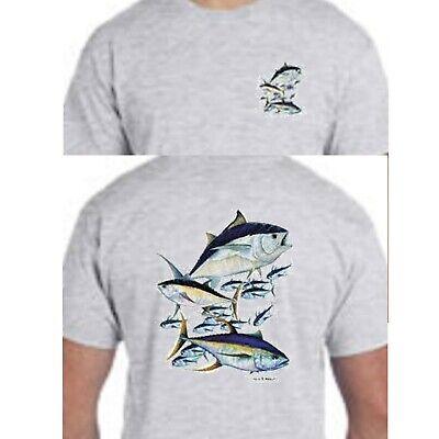 Deep Sea Fishing Tuna (Tuna Montage Deep Sea Salt Water Fishing Tee T-Shirt)
