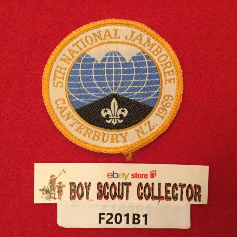 Boy Scout 1969 5th New Zealand  Boy Scouts National Jamboree Patch