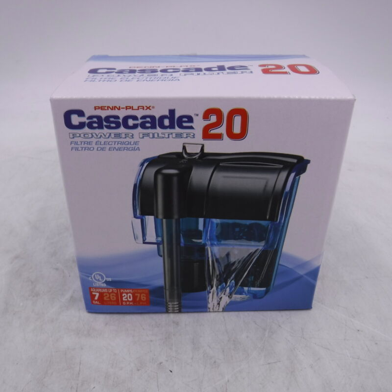 CASCADE 20 MINI POWER FILTER 20gph UP TO 7gal CPF6