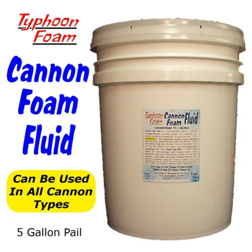 5 Gal. Cannon Party Foam Fluid solution for all foam machine types FREE SHIPPING