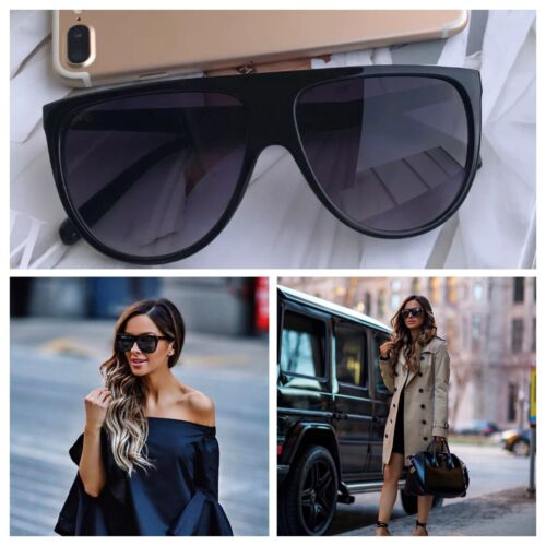 AYZA Fashion Oversize Sonnenbrille Damen Vintage Blogger Katzenauge Schwarz