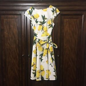 Dressystar Women Vintage  Dresses Cap-Sleeve Medium Lemon