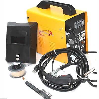 Mig 100 110v 90amp Flux Wire Welding Machine No Gas Welder Wauto Feeding Torch