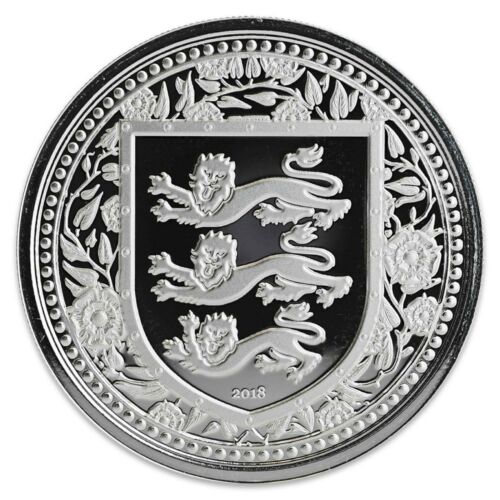 2018 (20) Lot Gibraltar Royal Arms Of England 1 oz .999 Silver BU Capsuled Coin
