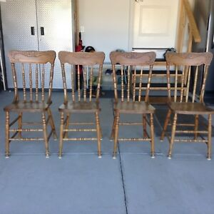Vintage press back chairs