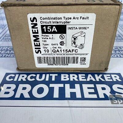 10 Pack Siemens Qa115afc 15a Arc Fault Afci Circuit Breaker New In Box