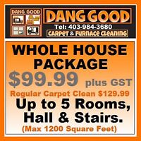 Dang Good Deal $99.99 Carpet Cleaning. Tel: 403-984-3680