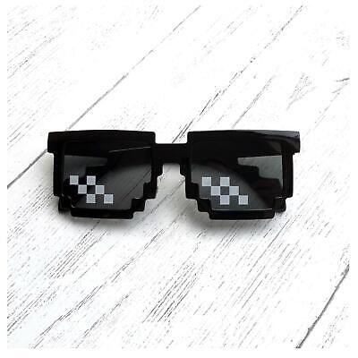 6bit Pixel Sunglasses Thug Life Deal with It Pixelated Novelty Gamer Glasses
